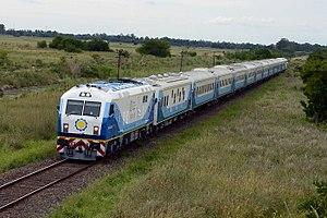 Operadora Ferroviaria Sociedad del Estado - A CNR CKD8G diesel-electric locomotive running express services to Mar del Plata
