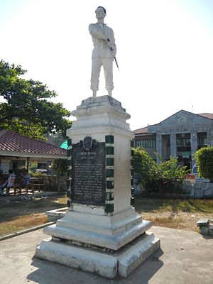Caba, La Union - Diego Silang monument in downtown Caba