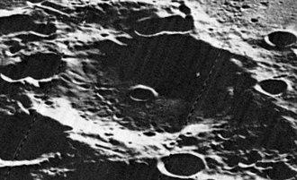 Cabannes (crater) - Oblique Lunar Orbiter 5 image