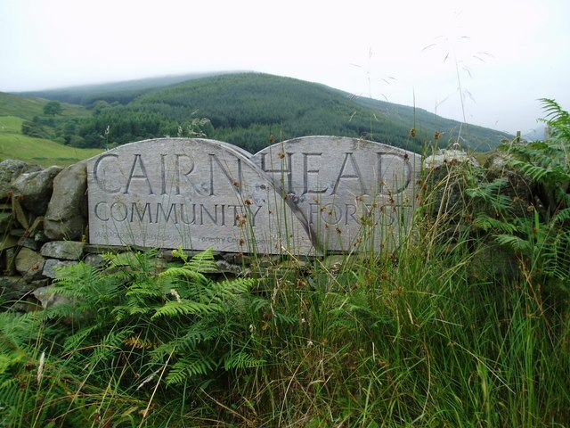 Cairnhead Community Forest Sign. - geograph.org.uk - 514511
