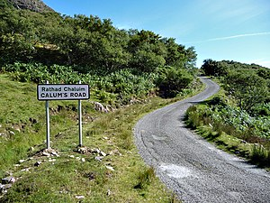 Calum's Road The start of the road that was th...
