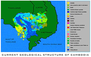 Natural Resources Cambodia Map
