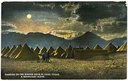Camping on the Border, near El Paso, Texas