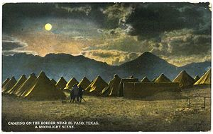 Camping on the Border, near El Paso, Texas