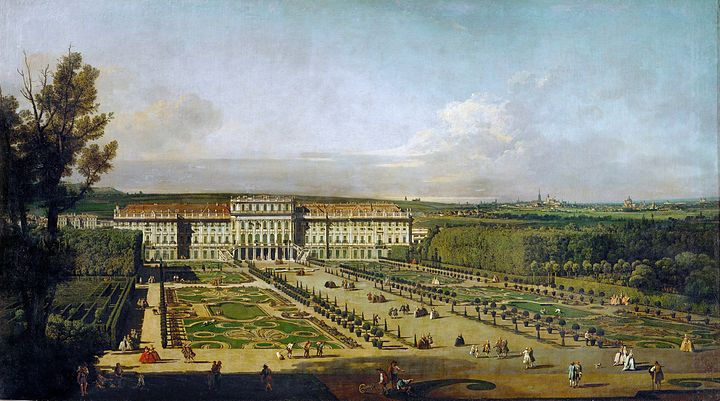 Schonbrunn Palace and gardens, painting by Bernardo Bellotto (1758/61) Canaletto (I) 059b.jpg
