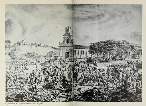 Capitulation des Anglais devant Victor Hugues Guadeloupe, Lacour T2, p450-451