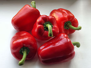 Red Bell Pepper one of Dirty Dozen vegetables