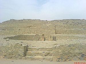 Andean preceramic - Caral ceremonial plaza