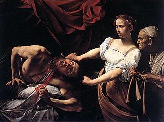 Caravaggio - Judith Beheading Holofernes 1599–1602, Galleria Nazionale d'Arte Antica, Rome