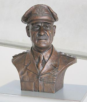 Carl Andrew Spaatz - Bust of General Spaatz at the Imperial War Museum Duxford