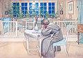 Carl Larsson - Kvällen före resan till England 1909.jpg