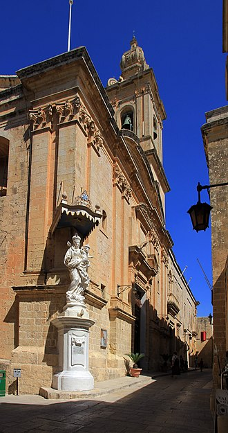Annunciation Church, Mdina - Image: Carmelite church Mdina Malta 2014 2