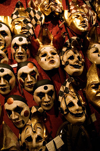 Carnival of Venice - A selection of Venetian carnival masks