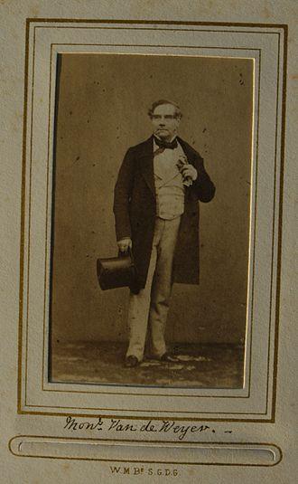 Sylvain Van de Weyer - Image: Carte de visite of Sylvain Van de Weyer (1802 1874)