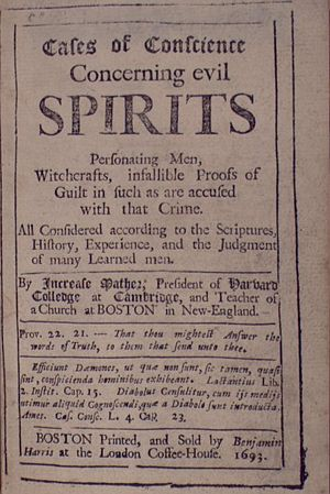 History of Massachusetts - Concerning Evil Spirits (Boston, 1693) by Increase Mather