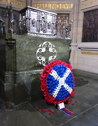 Scottish National War Memorial - The casket containing the original Rolls of Honour with over 147,000 names, installed at the opening ceremony in 1927