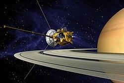 Cassini går ind i bane omkring Saturn i 2004