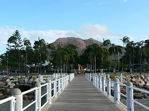 Castle Hill, Townsville - Castle Hill as seen from the Strand, Townsville