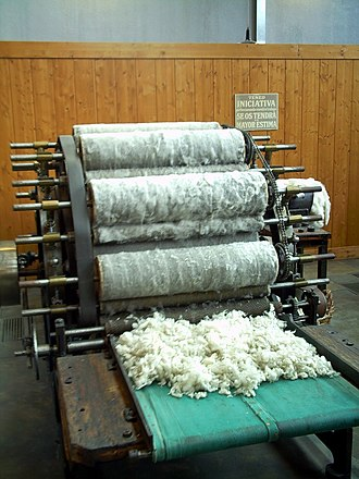 Textile manufacturing - Carding machine