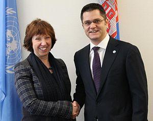 Vuk Jeremić - EU High Representative Dame Catherine Ashton and Vuk Jeremić, February 2013
