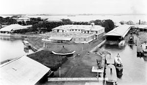 Cavite City - The Governor's Palace in the Navy Yard at the old Port City of Cavite (1899)