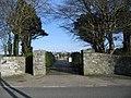 Cemetery Gates, Bodedern - geograph.org.uk - 158237.jpg