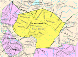 Census Bureau map of Hanover Township, New Jersey