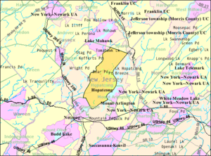 Hopatcong, New Jersey - Image: Census Bureau map of Hopatcong, New Jersey