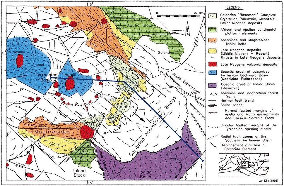 CentralMediterranean-GeotectonicMap