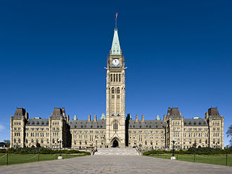 2014 shootings at Parliament Hill, Ottawa - Parliament Hill's Centre Block, scene of the attack by Michael Zehaf-Bibeau