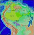 Cetacea range map Amazon River Dolphin-ar.png