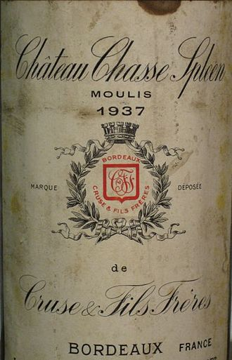 Château Chasse-Spleen - Image: Château Chasse Spleen 1937 detail