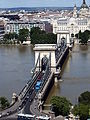 Chain Bridge from West. Danube flood. 20130613 Budapest 40.jpg