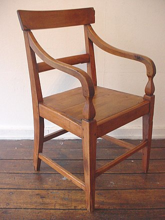 Waikouaiti - The 'Johnny Jones' chair, a very rare early example of domestic New Zealand made seated furniture.
