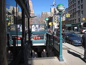 Chambers Street (IRT Broadway–Seventh Avenue Line) - Exit at Chambers Street and West Broadway