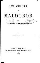 Comte de Lautréamont: Les Chants de Maldoror