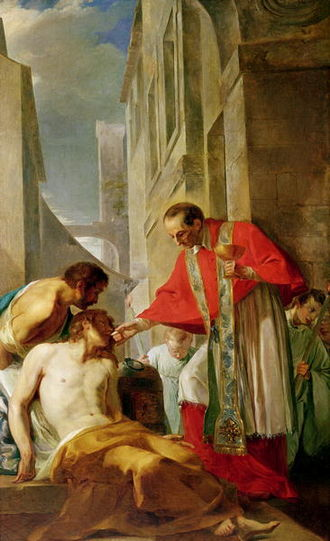 Jean-Baptiste Corneille - Jean-Baptiste Corneille, Charles Boromée caring for the Plague Victims (17th century)