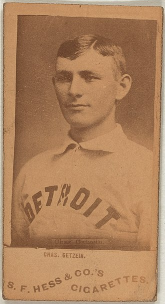 Charlie Getzein - 1889 S.F. Hess baseball card for Getzein
