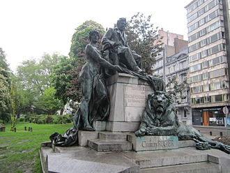 Charles Rogier - Image: Charles Rogier Monument in Parc d'Avroy, Liege