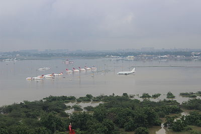 Chennai Airport submerged during December 2015 Tamil Nadu flood.jpg