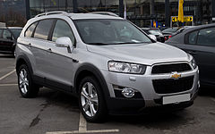 Chevrolet Captiva po pierwszym face liftingu