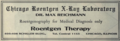 "Chicago Roentgen X-Ray Laboratory (""American medical directory"", 1906 advert).png"