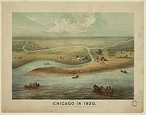 History of Chicago - Chicago in 1820