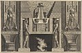 Chimneypiece in the Egyptian style- Giant figures supporting the lintel, flanked by chairs, from Diverse Maniere d'adornare i cammini... (Diverse Ways of ornamenting chimneypieces...) MET DP269858.jpg