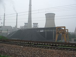 An operating power plant in China.