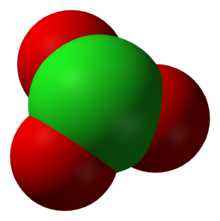 The chlorate ion