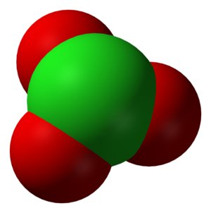 Chlorite - The chlorate ion