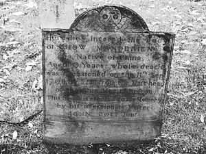 Central Burying Ground, Boston - Image: Chow Manderien Central Burying Ground 2008 Boston Common 2952913054