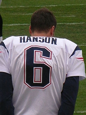 Chris Hanson (American football) - Hanson on the sidelines during a 2008 game.