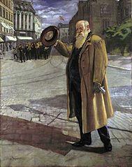 Christian Krohg på Karl Johan